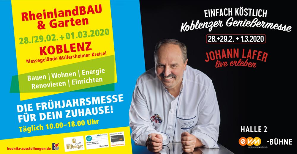 Johann Lafer live erleben auf der Rheinlandbau in Koblenz